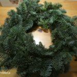 Zielony wianek na Boże Narodzenie