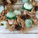 Jesienny wianek z dyniami