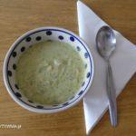 Fantastyczna zupa z cukinii z łososiem lub krewetkami.