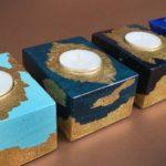 Złocone świeczniki, czyli cz. 11 recyklingu palet