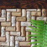 Tablica z korków po winie