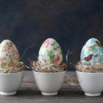 Dekupaż i spękania – jaja wielkanocne