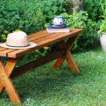 Ławka ogrodowa ze sztachet